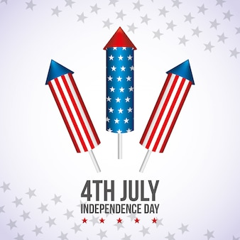 Feliz cuarto de julio. tarjeta del día de la independencia