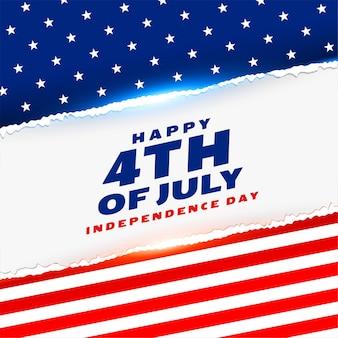 Feliz cuatro de julio fondo del día de la independencia americana