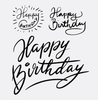 Feliz cumpleaños caligrafía a mano