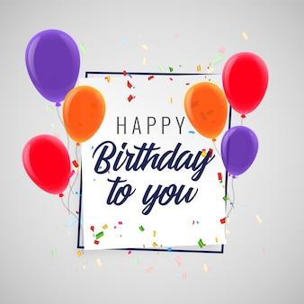 Feliz cumpleaños celebración fiesta fondo