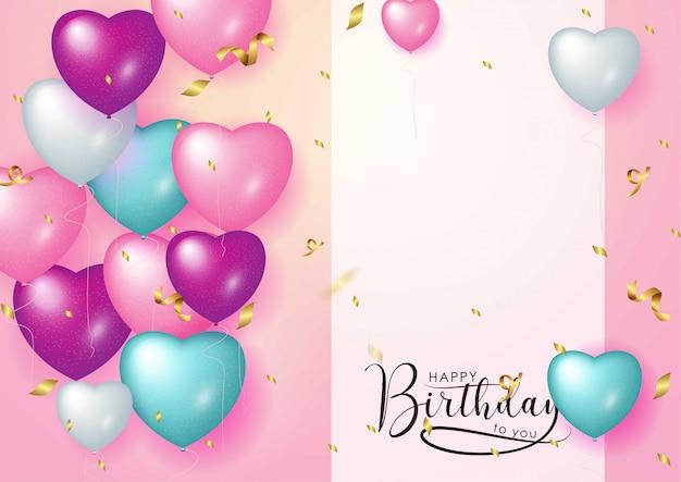 Feliz cumpleaños celebración tipografía