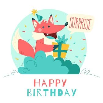 Feliz cumpleaños concepto de ilustración