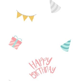 Feliz cumpleaños decoración diseño vectorial