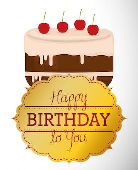 Feliz cumpleaños diseño