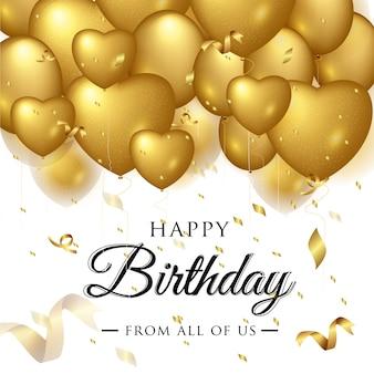 Feliz cumpleaños elegante tarjeta de felicitación