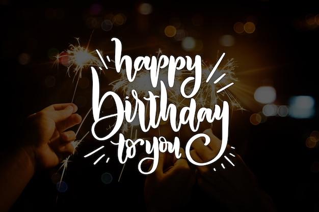 Feliz cumpleaños estilo de letras
