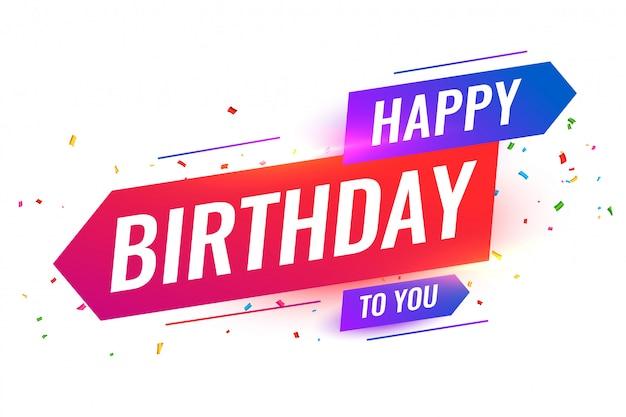 Feliz cumpleaños de estilo moderno a tu diseño