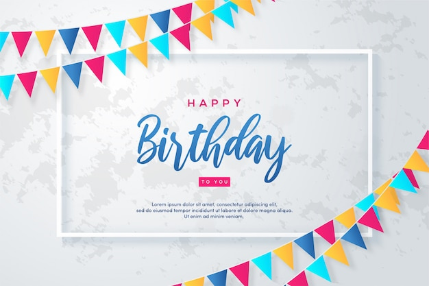 Feliz cumpleaños fondo colorido brillante.