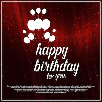 Feliz cumpleaños fondo rojo