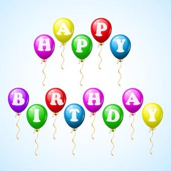 Feliz cumpleaños globos de celebracion