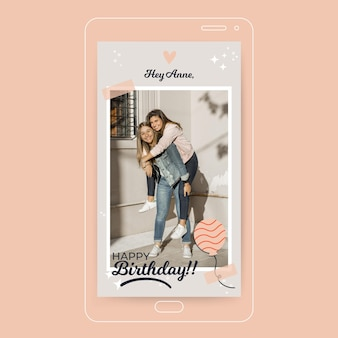 Feliz cumpleaños historia de instagram con foto