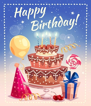 Feliz cumpleaños ilustración vectorial