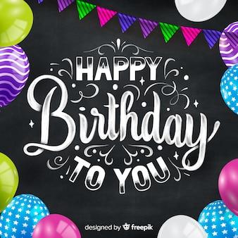Feliz cumpleaños letras coloridas