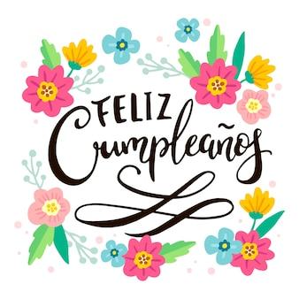 Feliz cumpleaños en letras españolas