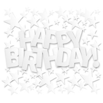 Feliz cumpleaños letras tarjeta de felicitación. fondo de vector