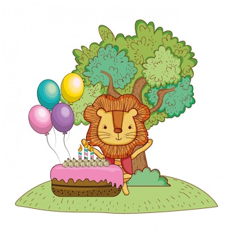 Feliz cumpleaños lindo animal