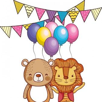 Feliz cumpleaños lindos animales