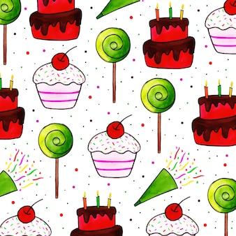 Feliz cumpleaños patrón de fondo