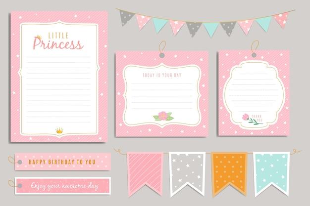 Feliz cumpleaños princesa scrapbook set