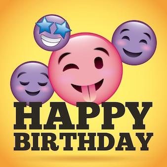 Feliz cumpleaños sonrisa emoji