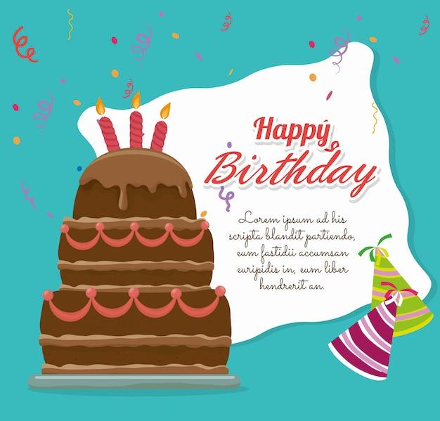 Feliz cumpleaños tarjeta colorida