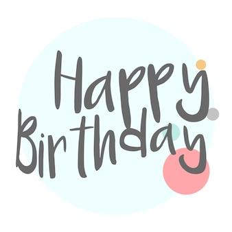 Feliz cumpleaños tipografía diseño vectorial