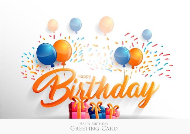 Feliz cumpleaños tipográfico diseño vectorial