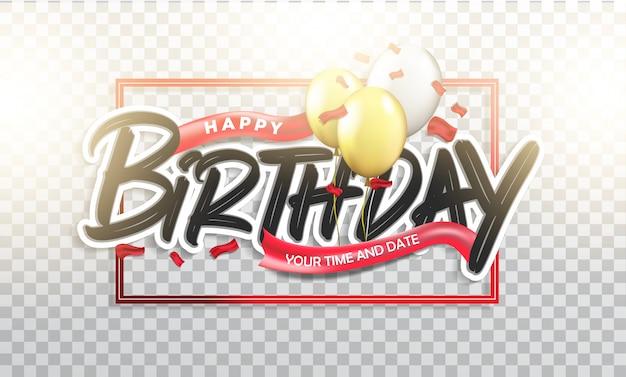 Feliz cumpleaños tipográfico