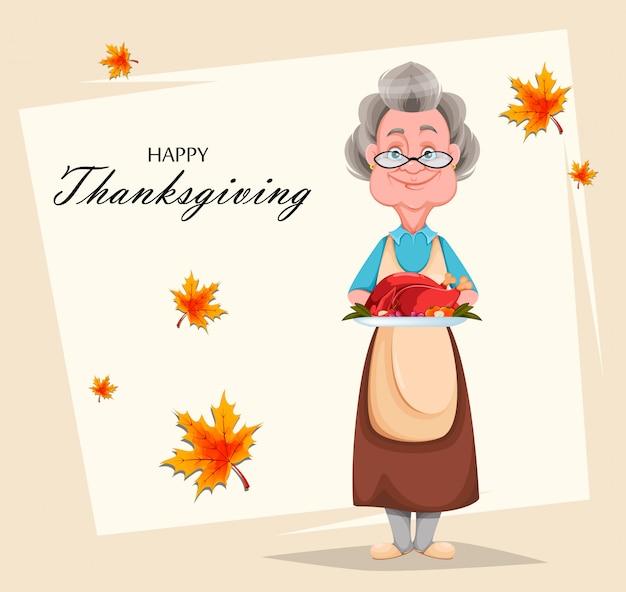 Feliz día de los abuelos. abuela alegre