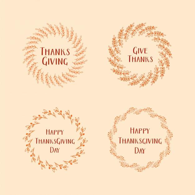 Feliz día de acción de gracias saludos hoja de marco