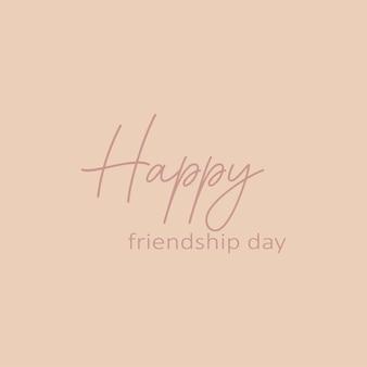 Feliz día de la amistad - caligrafía dibujada a mano y inscripción de letras.