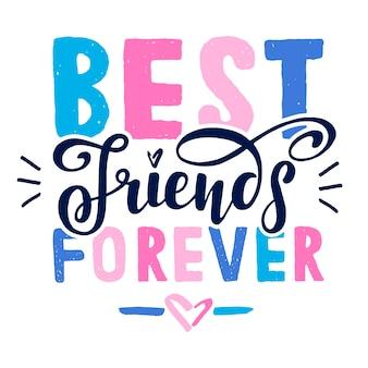 Feliz día de la amistad. cita inspiradora positiva. letras escritas a mano. ilustración de vector de plantilla de tarjeta de felicitación, cartel y banner.