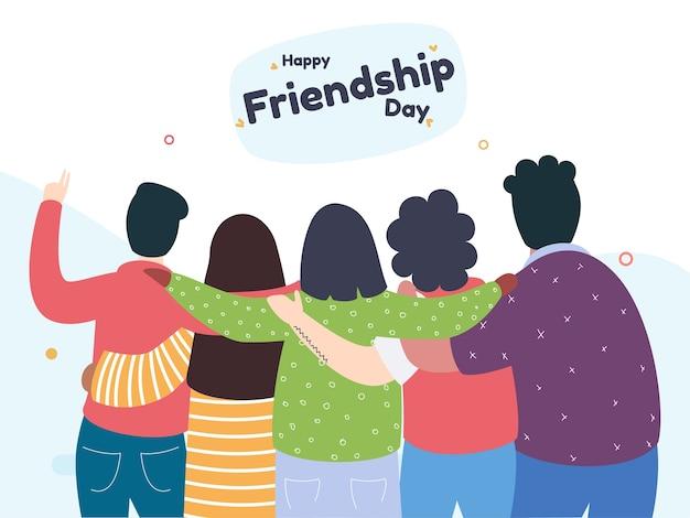 Feliz dia de la amistad saludo