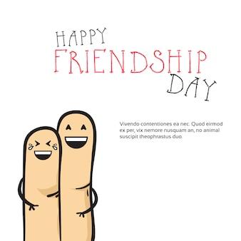 Feliz día de la amistad tarjeta de felicitación amigos banner de vacaciones