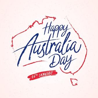 Feliz día de australia estilo de letras