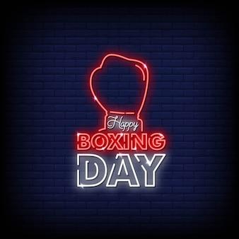 Feliz día del boxeo de neón