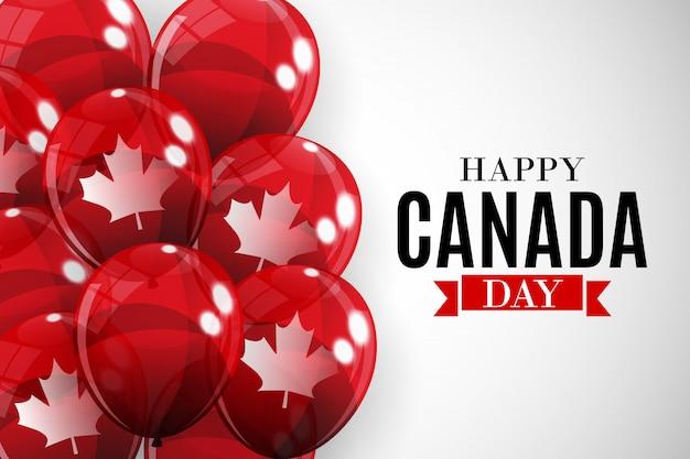 Feliz día de canadá fondo tarjeta de felicitación. ilustración