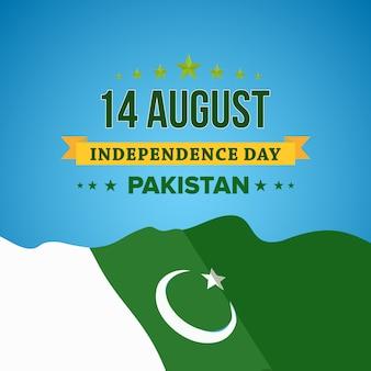 Feliz día de la independencia 14 de agosto pakistán tarjeta de felicitación