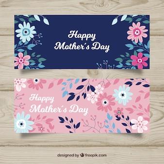 Feliz día de la madre banners en diseño plano