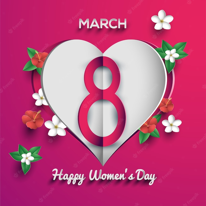 Feliz día de la mujer 8 de marzo