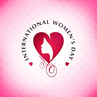Feliz día de la mujer con fondo rosa y tipografía