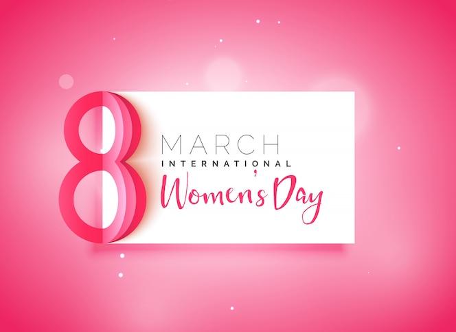 Feliz día de la mujer hermoso fondo rosa