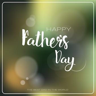 Feliz día de padre family holiday greeting card plana