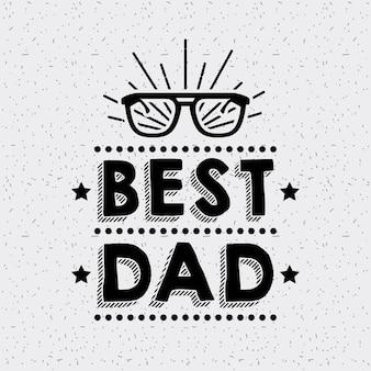 Feliz día de padres gafas estrellas mejor papá fest grunge