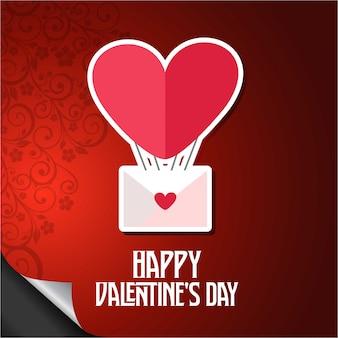 Feliz dia de los enamorados corazón del globo