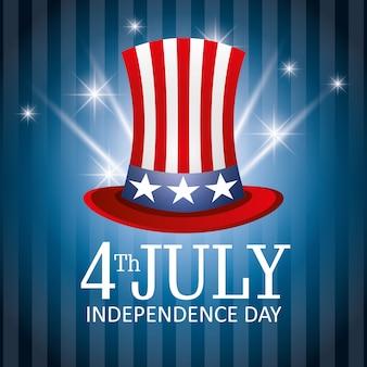 Feliz día de la independencia, 4 de julio, celebración de los estados unidos.