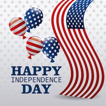 Feliz día de la independencia 4 de julio diseño de los eeuu