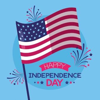Feliz día de la independencia americana