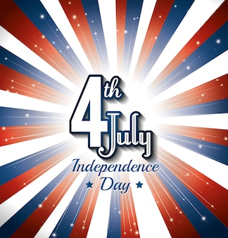 Feliz día de la independencia, celebración del 4 de julio en los estados unidos de américa.