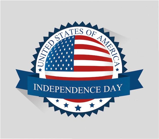 Feliz día de la independencia de estados unidos, celebración del 4 de julio